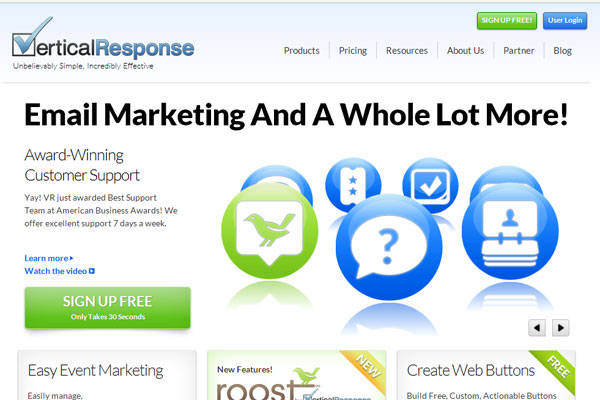 20 best email marketing tools for your business for Vertical response
