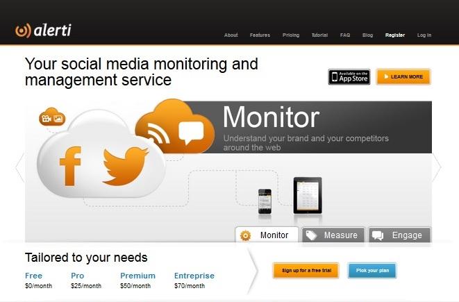 alerti homepage