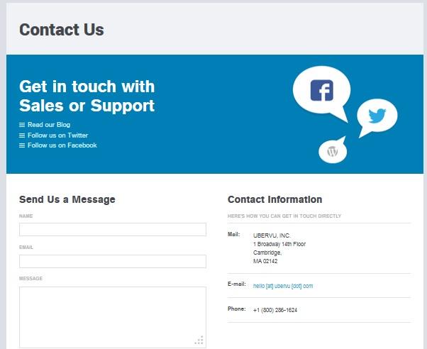 ubervu support