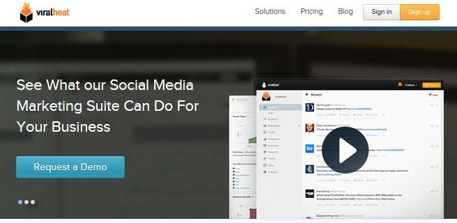 viralheat homepage