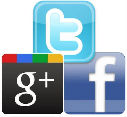twitter, google and facebook